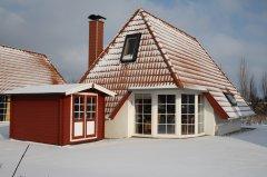 Terrasse Ferienhaus-Strandvogt im Winter